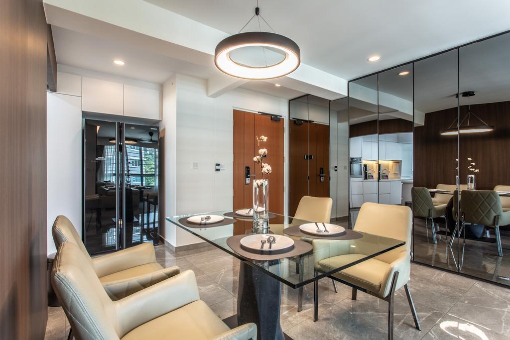 Contemporary, HDB, Dining Room, Telok Blangah Street 31, Interior Designer, Ovon Design