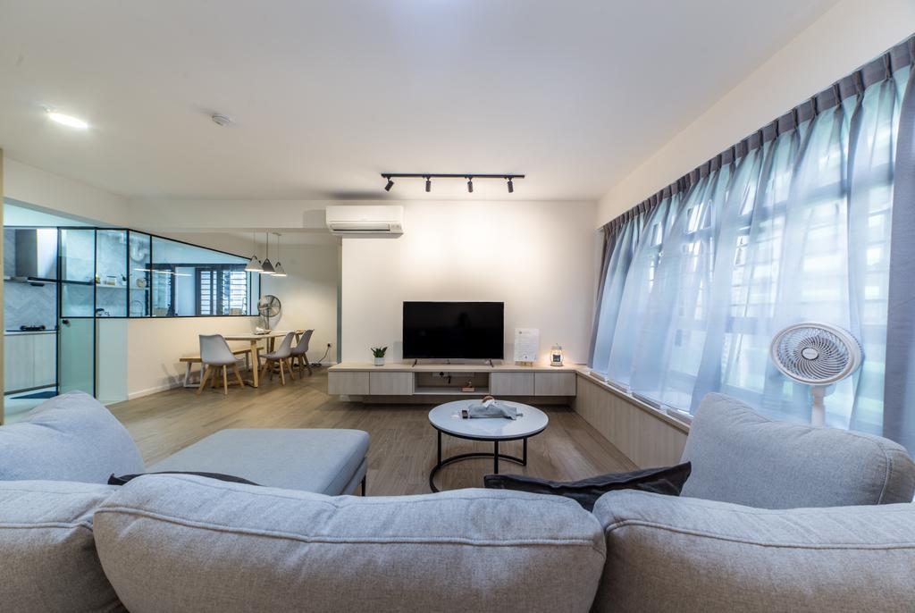 Scandinavian, HDB, Living Room, GreenRidges @ Tampines, Interior Designer, Ovon Design