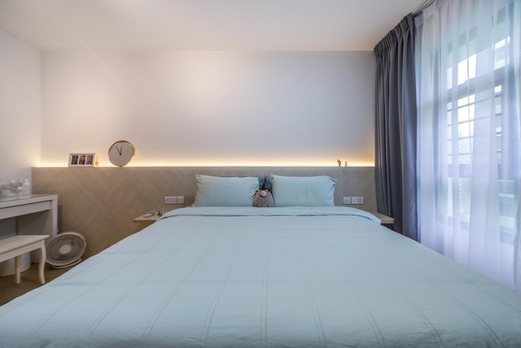 Scandinavian, HDB, Bedroom, GreenRidges @ Tampines, Interior Designer, Ovon Design