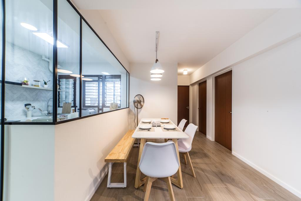 Scandinavian, HDB, Dining Room, GreenRidges @ Tampines, Interior Designer, Ovon Design