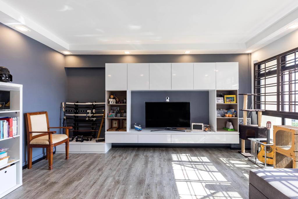 Contemporary, HDB, Living Room, Sengkang East Way, Interior Designer, Butler Interior