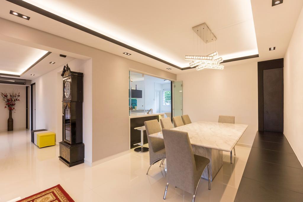 Contemporary, HDB, Dining Room, Tampines Street 42, Interior Designer, Des & Co Interior
