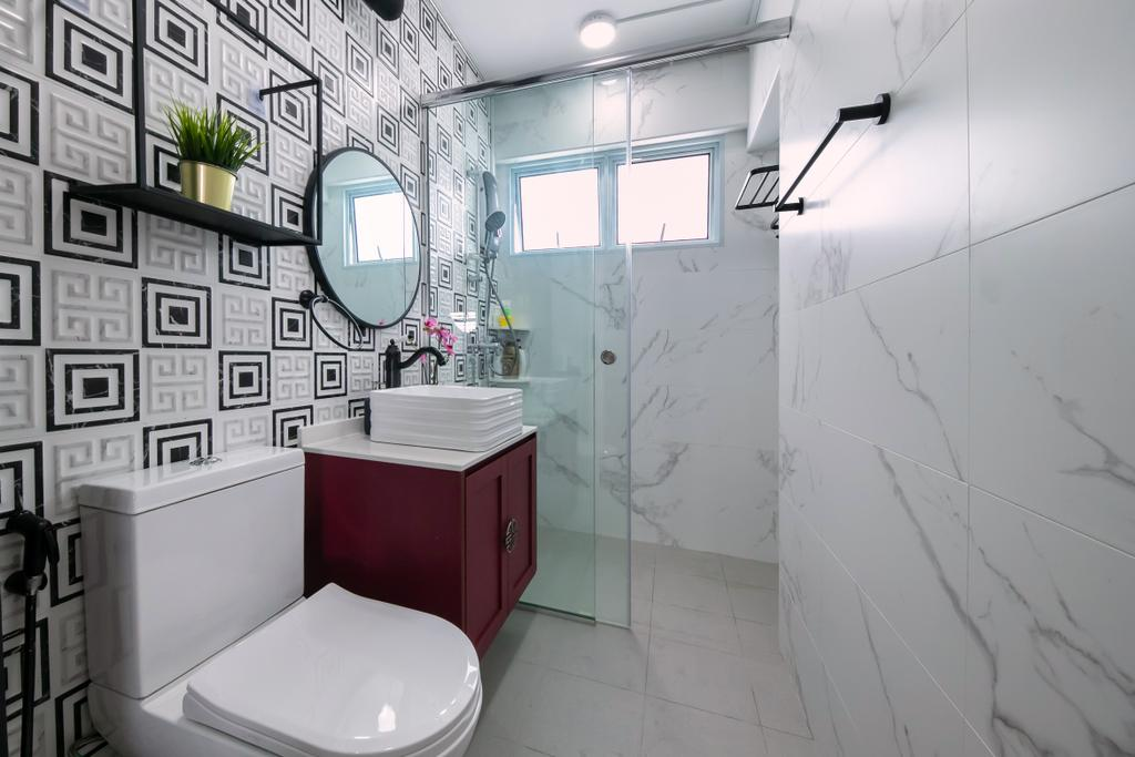 Contemporary, HDB, Bathroom, Potong Pasir, Interior Designer, Space Atelier