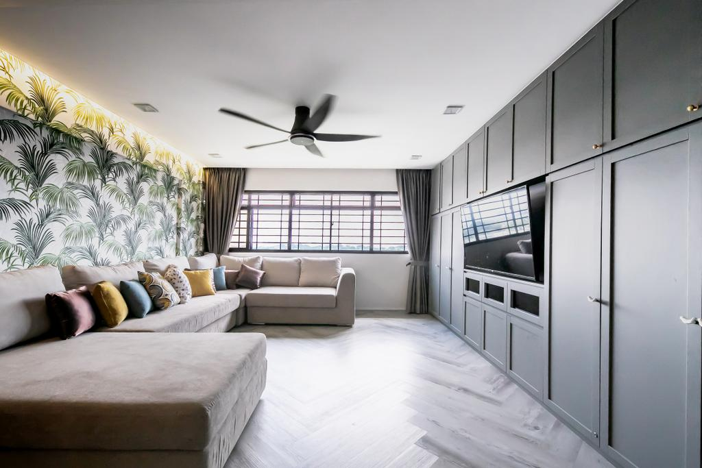 Contemporary, HDB, Living Room, Potong Pasir, Interior Designer, Space Atelier