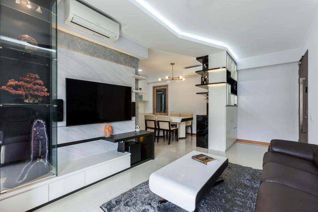 Contemporary, Condo, Living Room, Treasure Crest, Interior Designer, Ovon Design