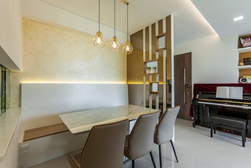 Contemporary, Condo, Dining Room, Treasure Crest, Interior Designer, Ovon Design