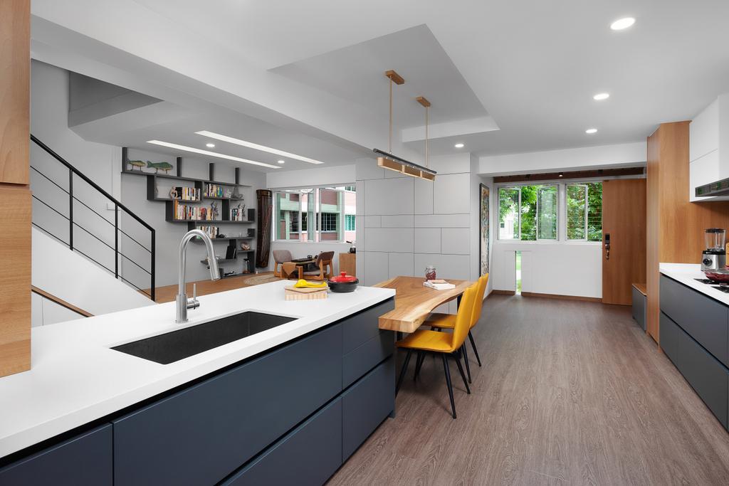 Contemporary, HDB, Dining Room, Bishan Street 22, Interior Designer, Ovon Design, Modern