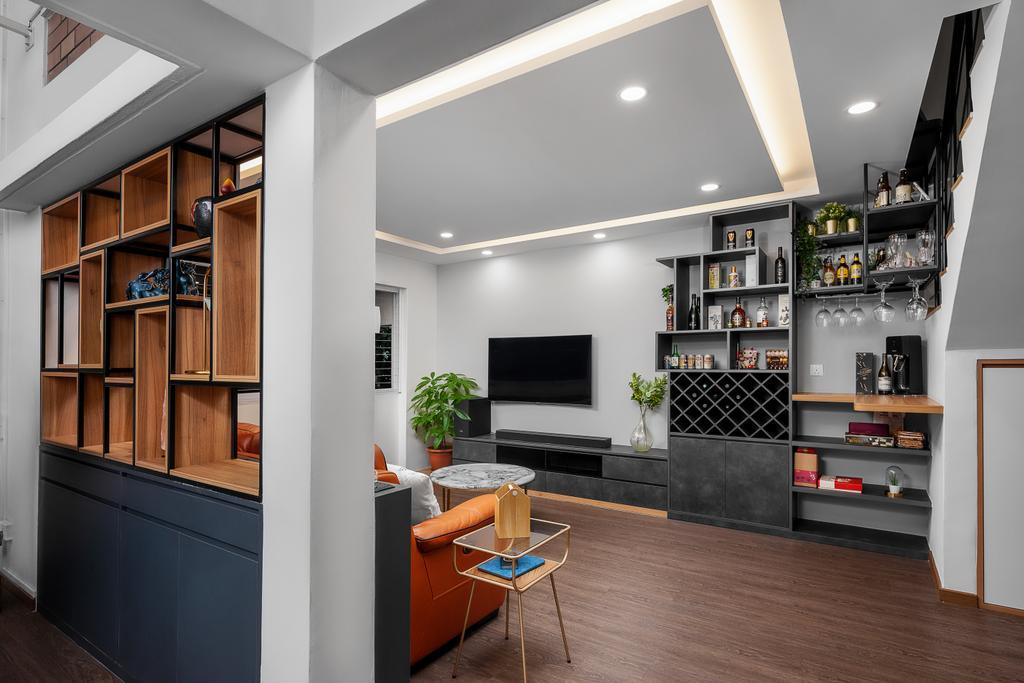 Contemporary, HDB, Living Room, Bishan Street 22, Interior Designer, Ovon Design, Modern