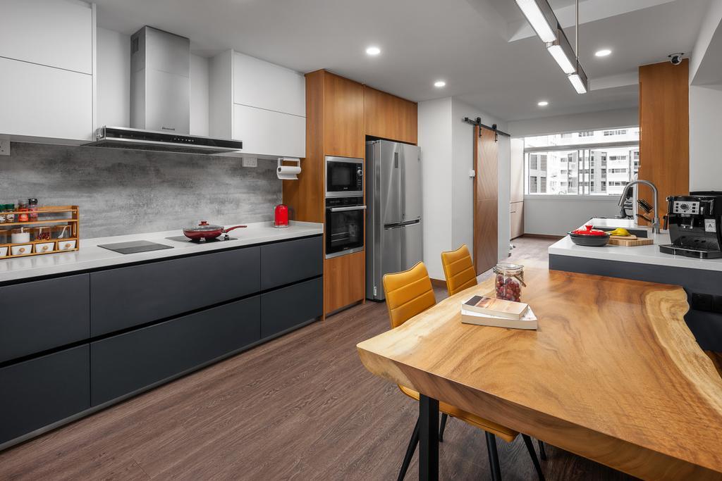 Contemporary, HDB, Kitchen, Bishan Street 22, Interior Designer, Ovon Design, Modern