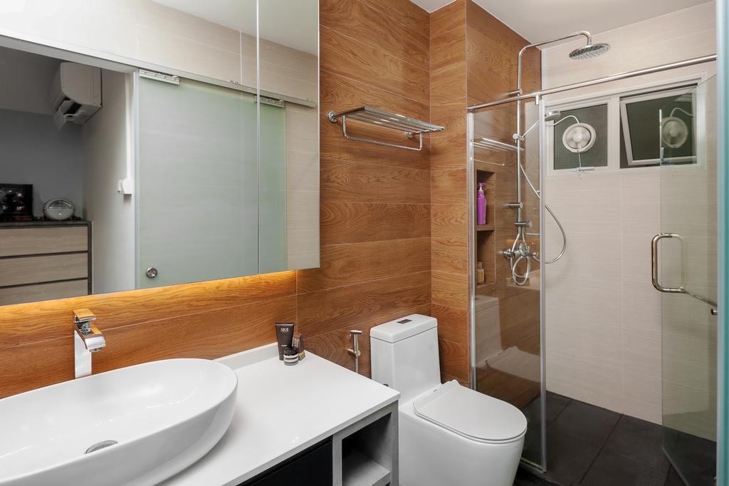 Contemporary, HDB, Bathroom, Bishan Street 22, Interior Designer, Ovon Design, Modern