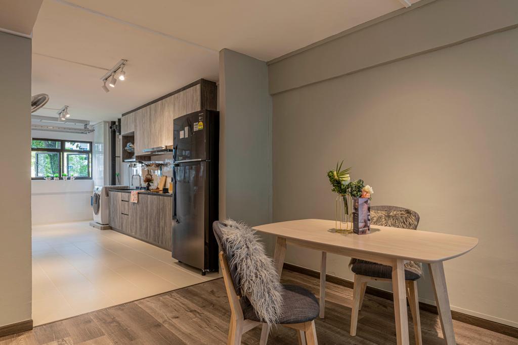 Contemporary, HDB, Dining Room, Yishun Street 61, Interior Designer, Omni Design