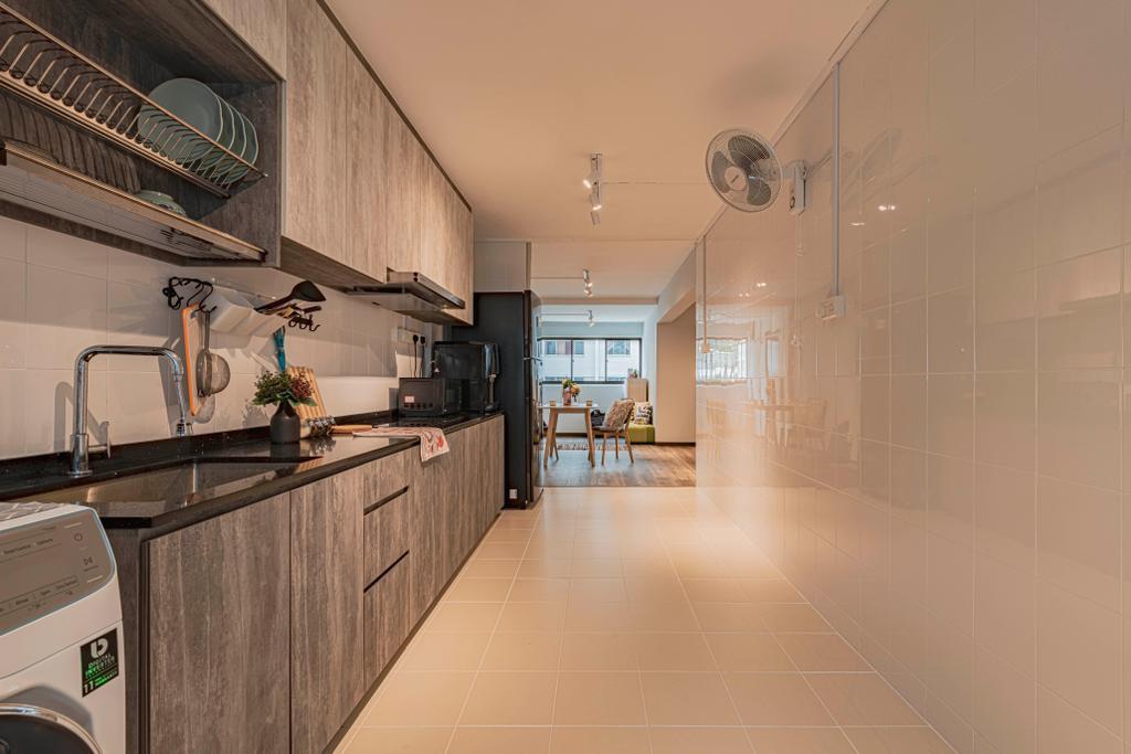 Contemporary, HDB, Kitchen, Yishun Street 61, Interior Designer, Omni Design