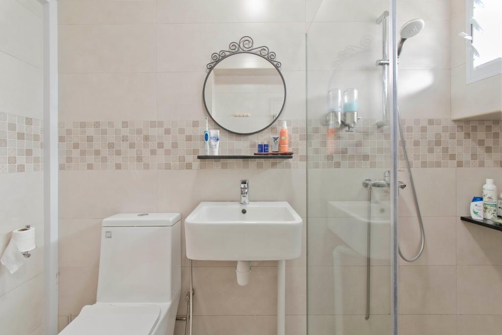 Contemporary, HDB, Bathroom, Bendemeer Road, Interior Designer, Pavilon BC