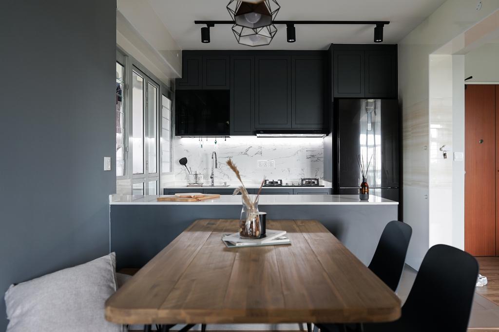 Contemporary, HDB, Kitchen, Yishun Street 43, Interior Designer, Authors • Interior & Styling