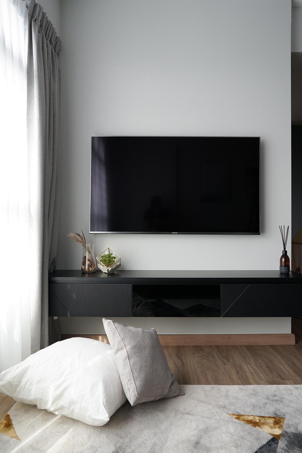 Contemporary, HDB, Living Room, Yishun Street 43, Interior Designer, Authors • Interior & Styling