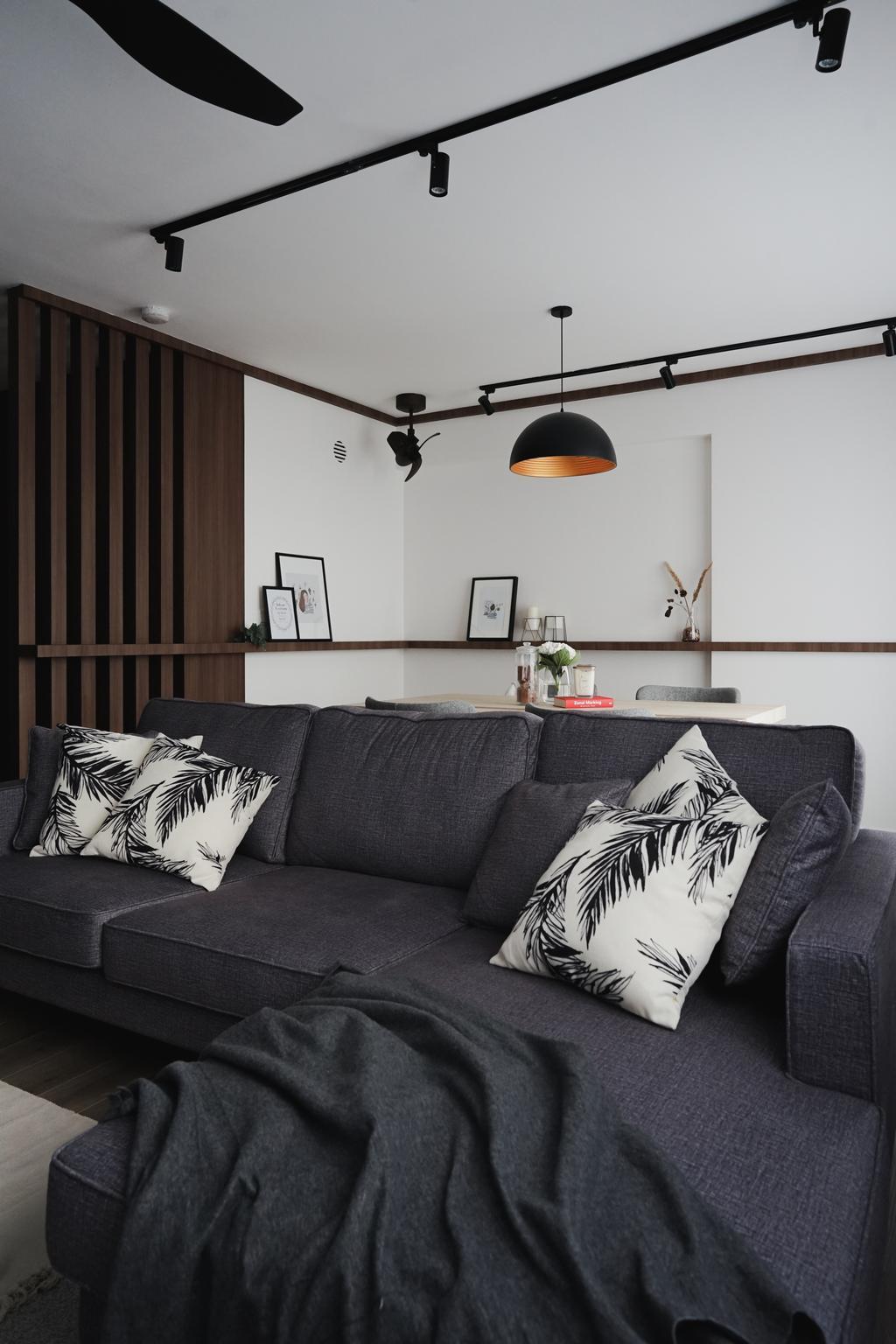 Contemporary, HDB, Living Room, St. George's Lane, Interior Designer, Authors • Interior & Styling, Modern