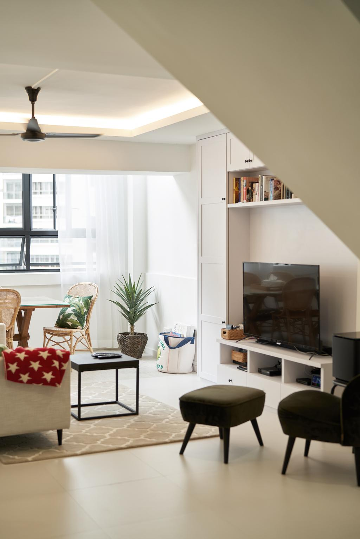Modern, HDB, Living Room, Bedok Reservoir Road, Interior Designer, Ovon Design
