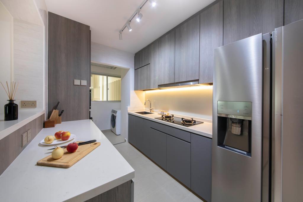 Contemporary, HDB, Kitchen, West Rock @ Bukit Batok, Interior Designer, Aart Boxx Interior