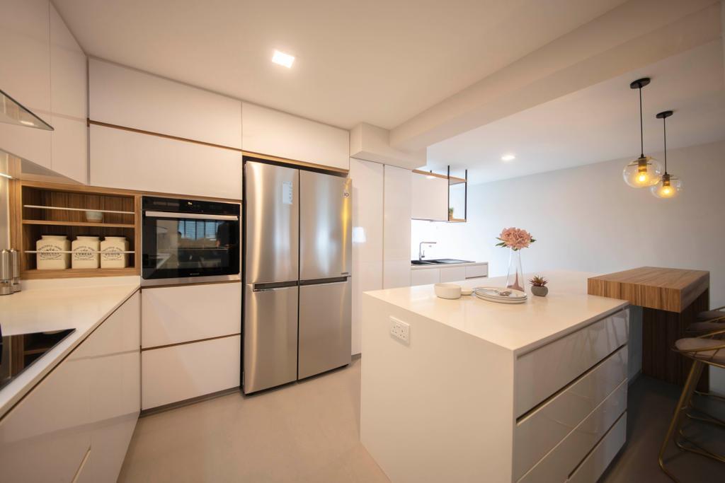 Contemporary, HDB, Kitchen, Marsiling Road, Interior Designer, Aart Boxx Interior