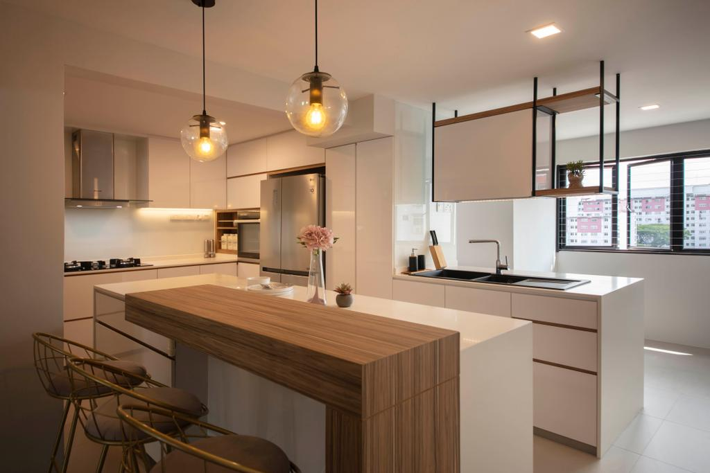 Contemporary, HDB, Kitchen, Marsiling Road, Interior Designer, Aart Boxx Interior