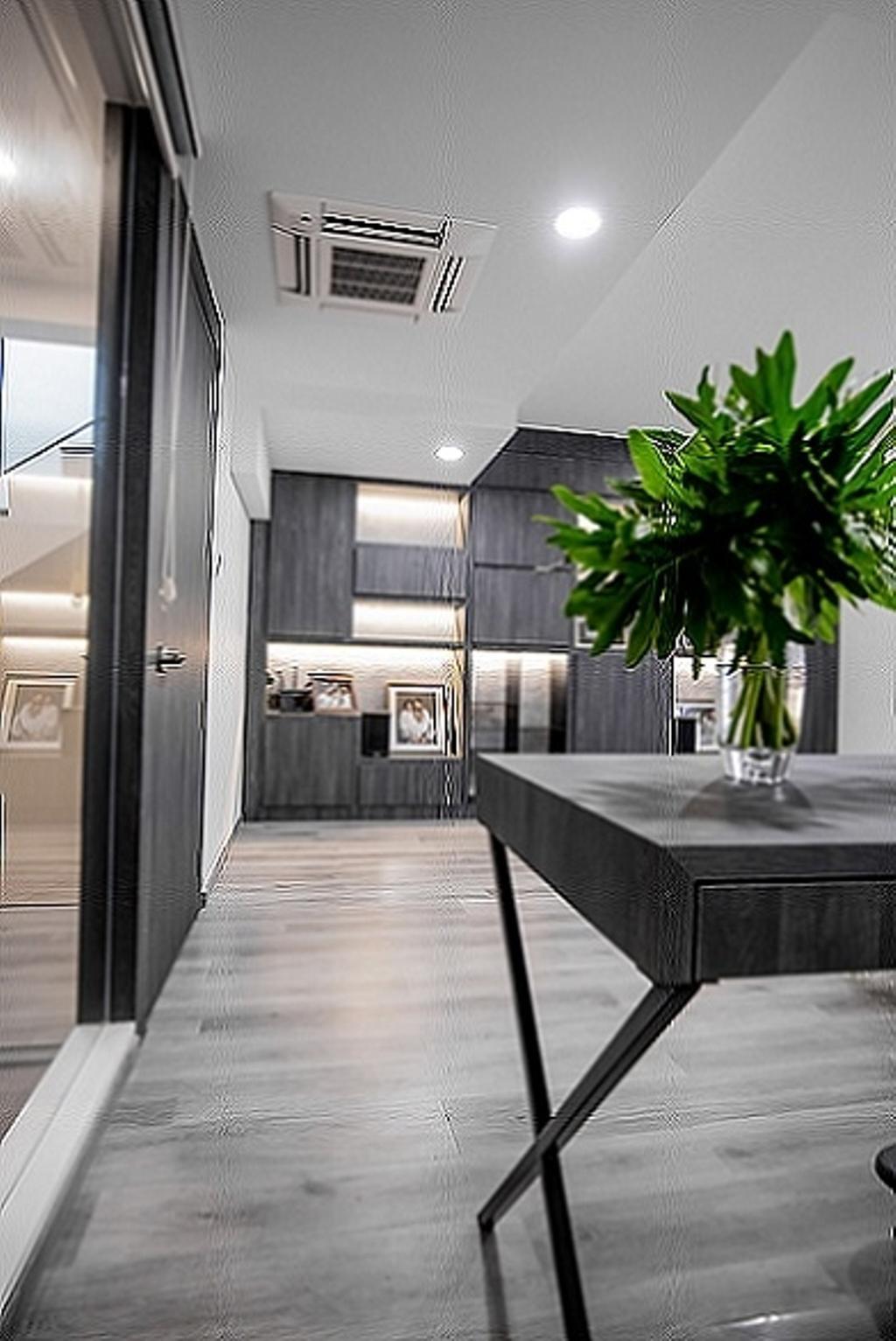 Contemporary, Landed, Study, Cashew Crescent, Interior Designer, Baum Project Pte Ltd, Minimalistic