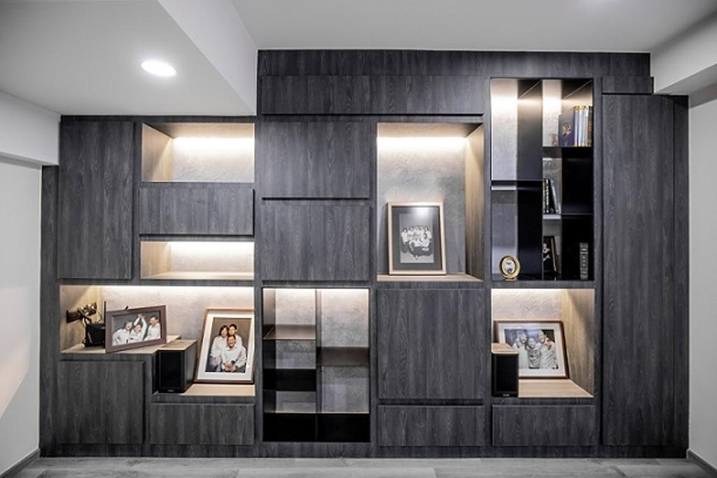Contemporary, Landed, Living Room, Cashew Crescent, Interior Designer, Baum Project Pte Ltd, Minimalistic