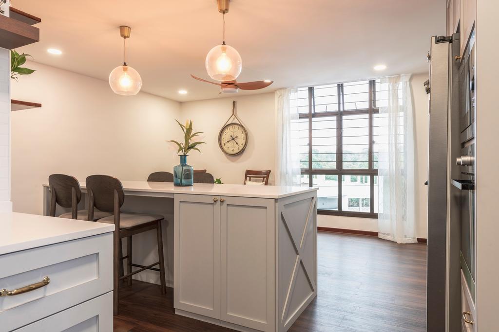 Contemporary, HDB, Dining Room, Segar Road, Interior Designer, PHD Posh Home Design