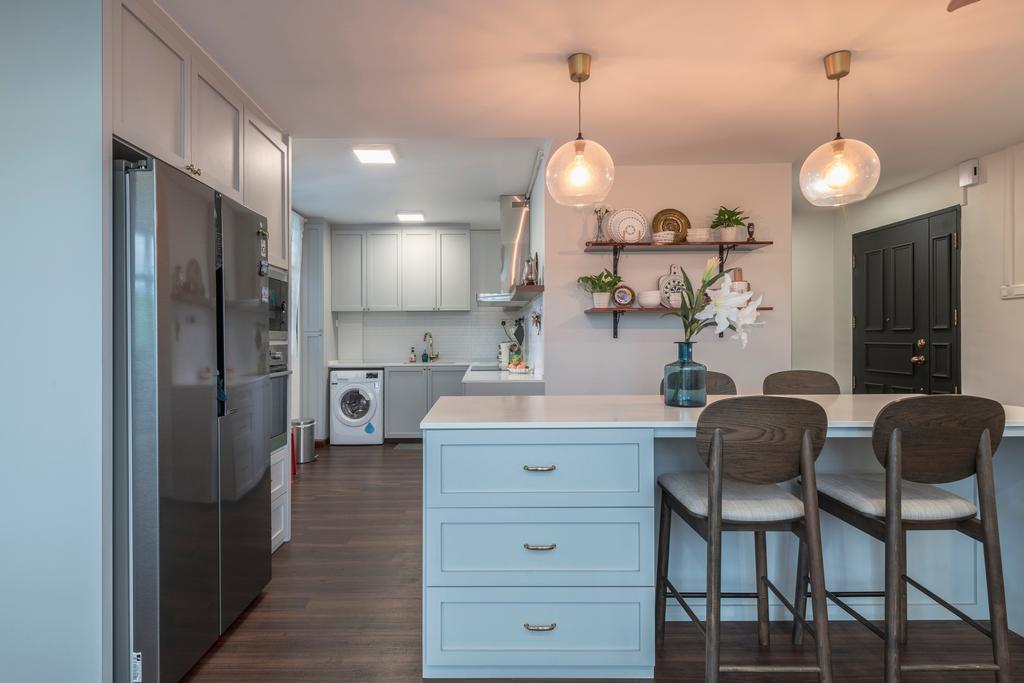 Contemporary, HDB, Kitchen, Segar Road, Interior Designer, PHD Posh Home Design