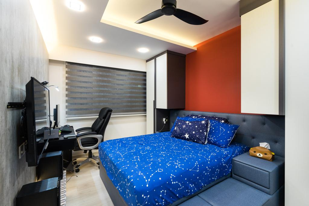 Modern, HDB, Bedroom, Fernvale Link, Interior Designer, Yujia Interior Design