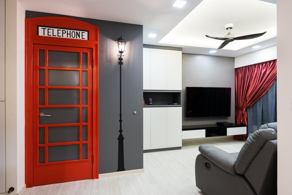 Modern, HDB, Living Room, Fernvale Link, Interior Designer, Yujia Interior Design