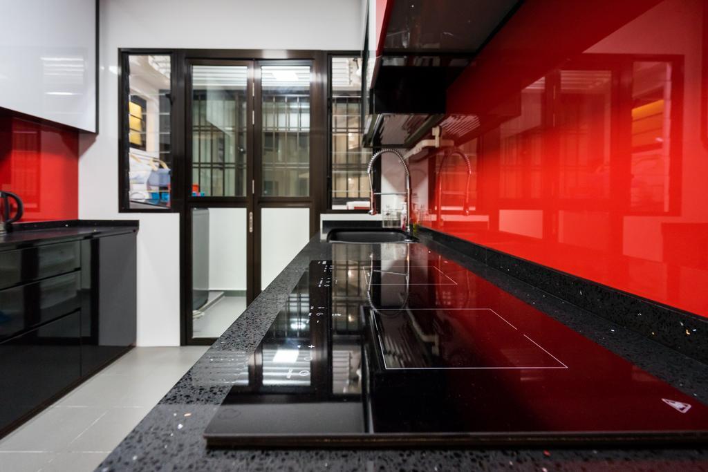 Modern, HDB, Kitchen, Fernvale Link, Interior Designer, Yujia Interior Design