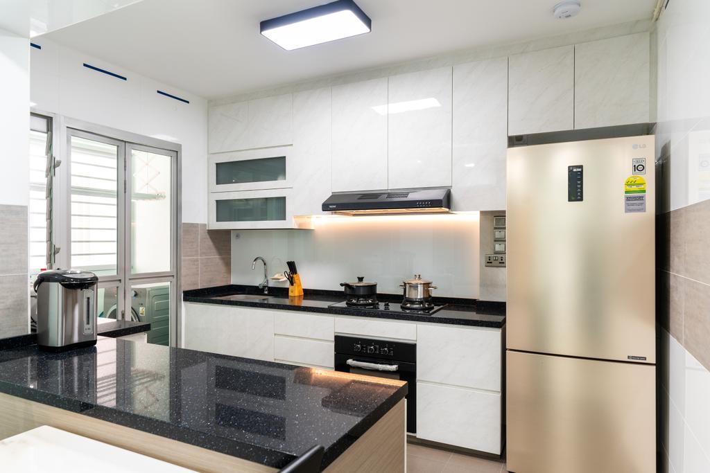 Modern, HDB, Kitchen, Woodlands Drive, Interior Designer, Yujia Interior Design