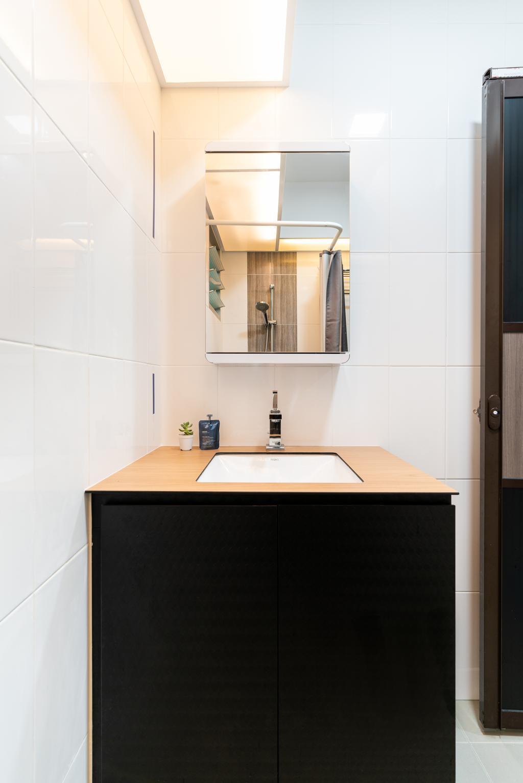 Modern, HDB, Bathroom, Woodlands Drive, Interior Designer, Yujia Interior Design