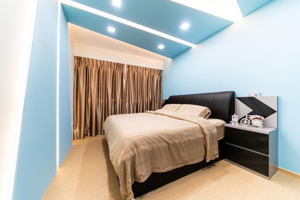 Modern, HDB, Bedroom, Woodlands Drive, Interior Designer, Yujia Interior Design
