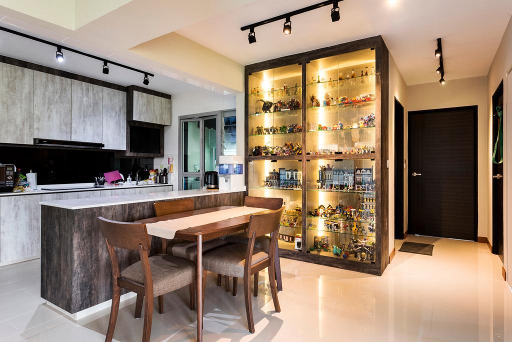 Modern, HDB, Dining Room, Keat Hong, Interior Designer, Yujia Interior Design