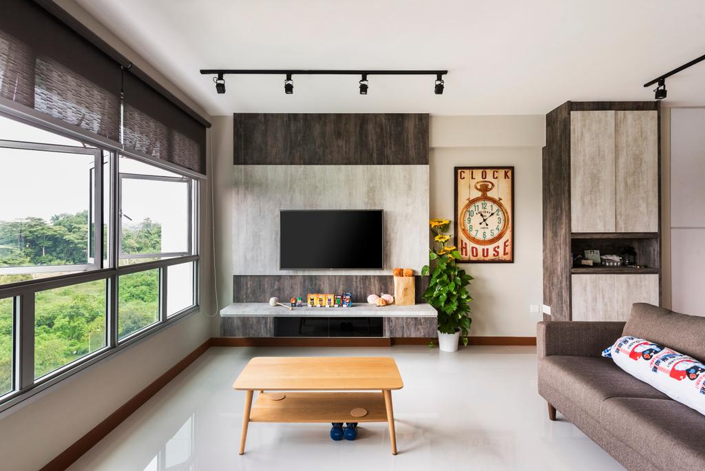 Modern, HDB, Living Room, Keat Hong, Interior Designer, Yujia Interior Design