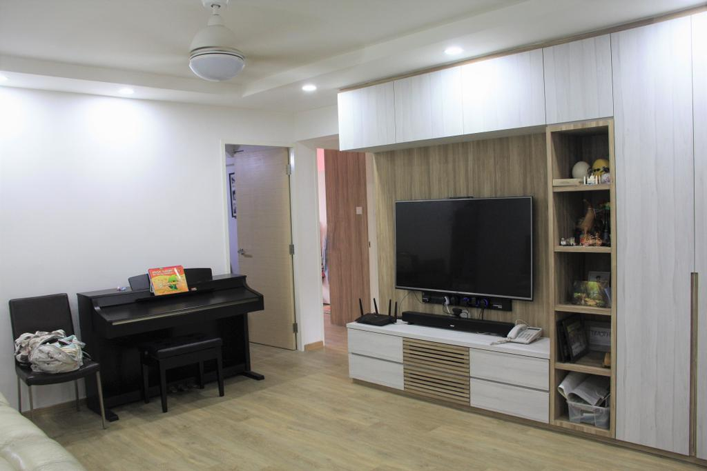Modern, HDB, Living Room, Bedok North Street 2, Interior Designer, Step Dezign