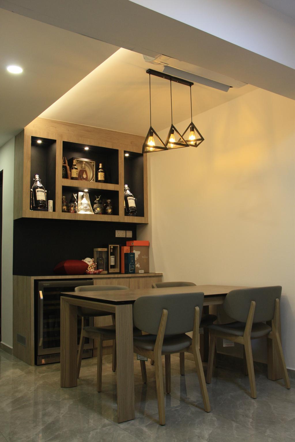 Contemporary, HDB, Dining Room, Sumang Lane, Interior Designer, Step Dezign