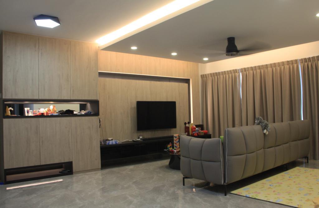 Contemporary, HDB, Living Room, Sumang Lane, Interior Designer, Step Dezign