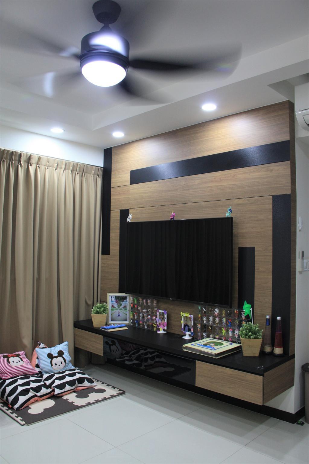 Traditional, HDB, Living Room, Edgedale Plains, Interior Designer, Step Dezign