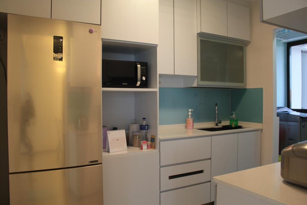 Minimalistic, HDB, Kitchen, Buangkok Link, Interior Designer, Step Dezign