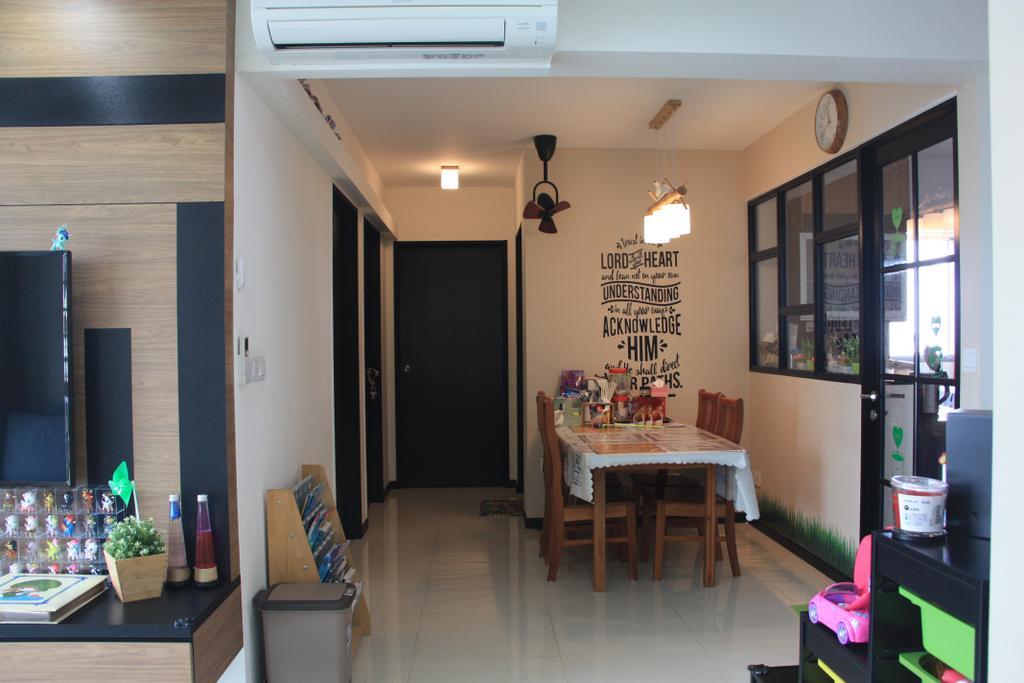 Traditional, HDB, Dining Room, Edgedale Plains, Interior Designer, Step Dezign
