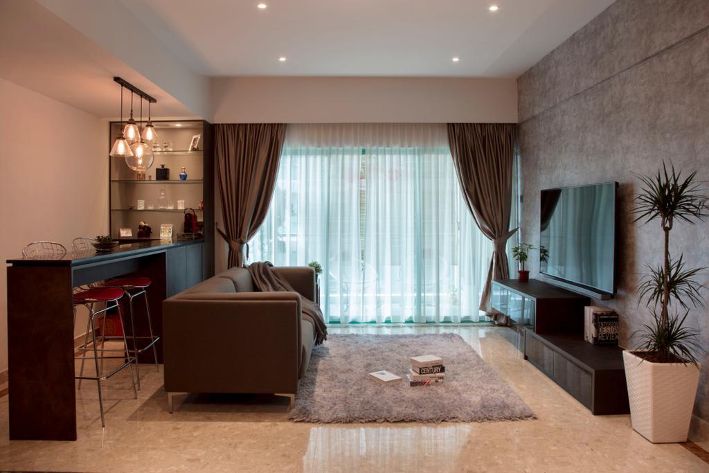 Contemporary, Condo, Living Room, Hindhede Walk, Interior Designer, The Safe Haven Interiors