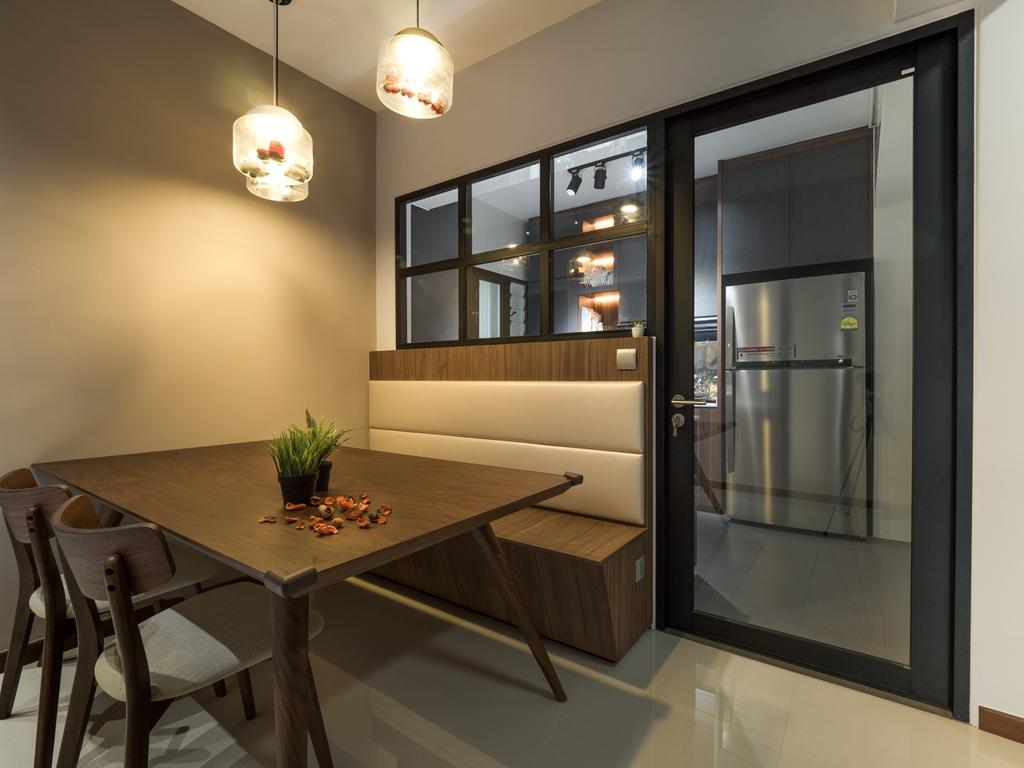 Modern, HDB, Dining Room, Fernvale Link, Interior Designer, The Safe Haven Interiors