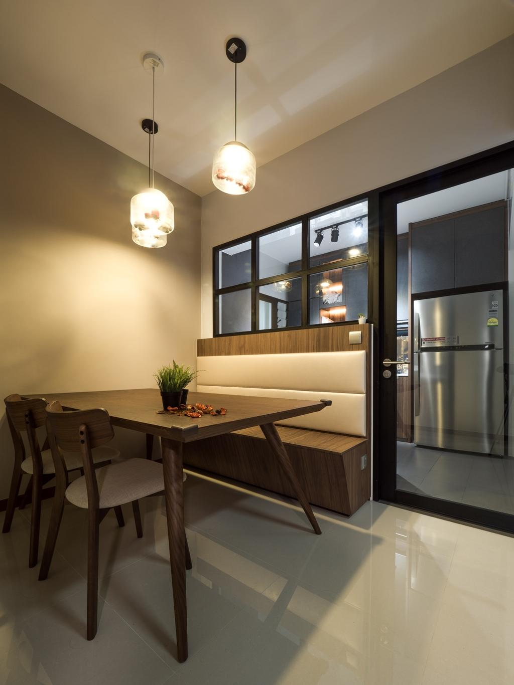 Modern, HDB, Dining Room, Fernvale Link, Interior Designer, The Safe Haven Interiors