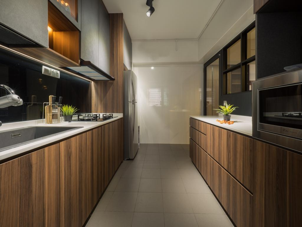 Modern, HDB, Kitchen, Fernvale Link, Interior Designer, The Safe Haven Interiors