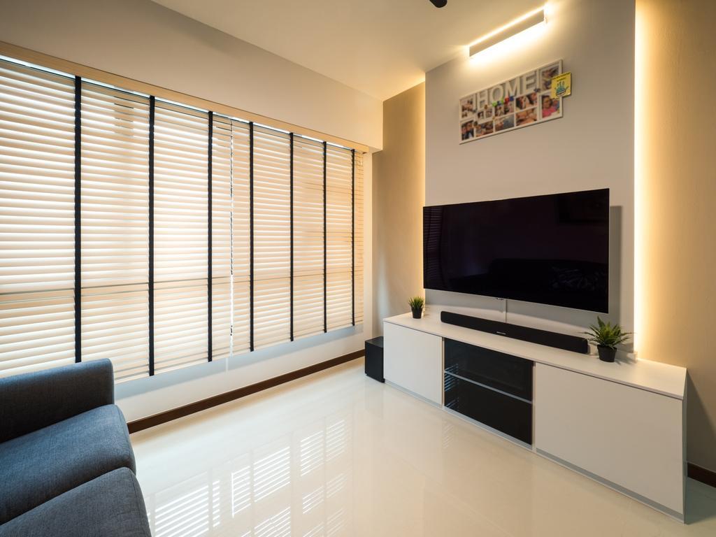 Modern, HDB, Living Room, Fernvale Link, Interior Designer, The Safe Haven Interiors