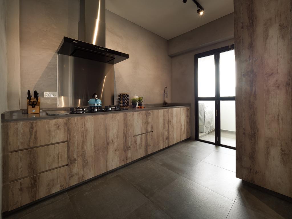 Scandinavian, HDB, Kitchen, Edgedale Plains, Interior Designer, The Safe Haven Interiors