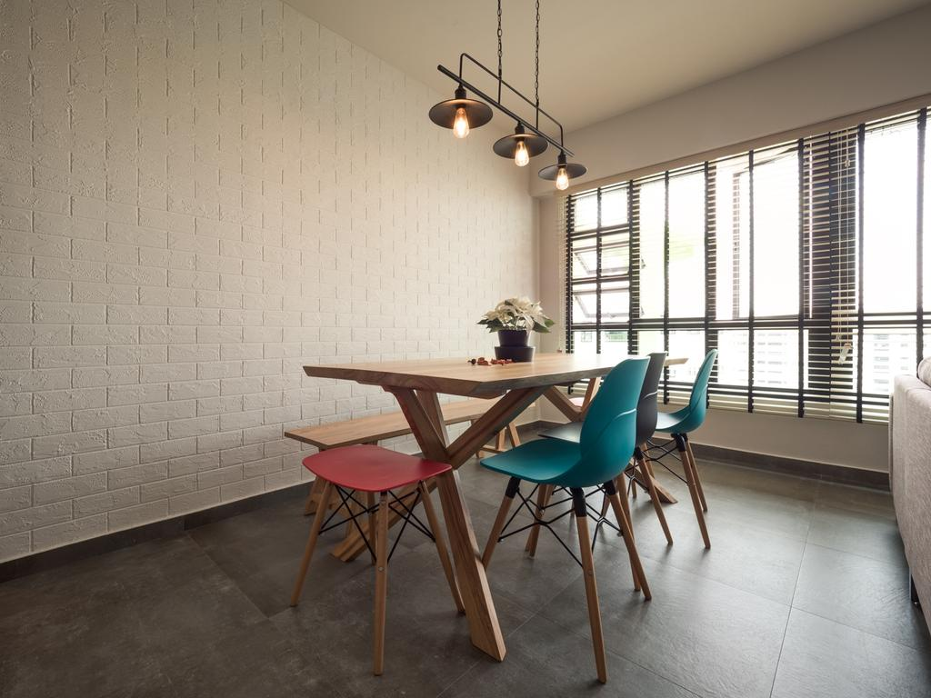 Scandinavian, HDB, Dining Room, Edgedale Plains, Interior Designer, The Safe Haven Interiors