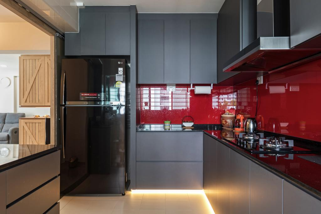 Transitional, HDB, Kitchen, Sembawang Crescent, Interior Designer, Form & Space, Eclectic